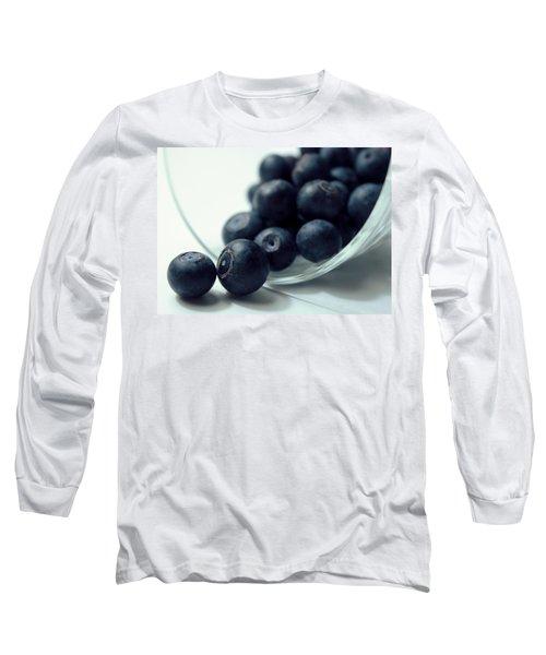 Blueberries Long Sleeve T-Shirt by Joseph Skompski