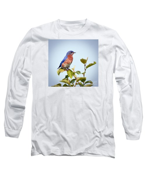 Bluebird On Top Long Sleeve T-Shirt by Kerri Farley