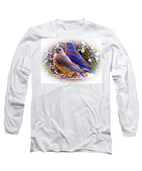 Bluebird Wedding Long Sleeve T-Shirt by Jean Noren