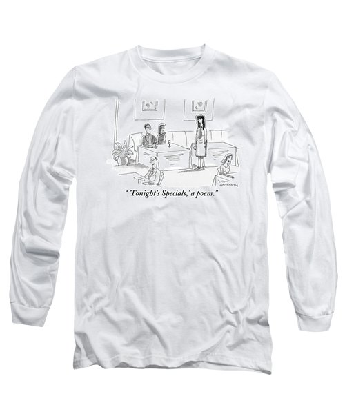 Bluesy Waitress Stands Speaking To A Couple Long Sleeve T-Shirt