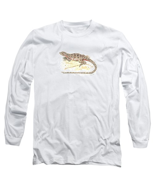 Blunt-nosed Leopard Lizard  Long Sleeve T-Shirt by Cindy Hitchcock