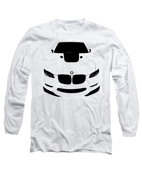 Long Sleeve T-Shirt featuring the digital art Bmw White by J Anthony