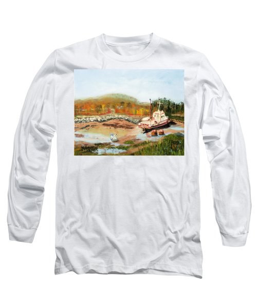 Boat At Bic Quebec Long Sleeve T-Shirt