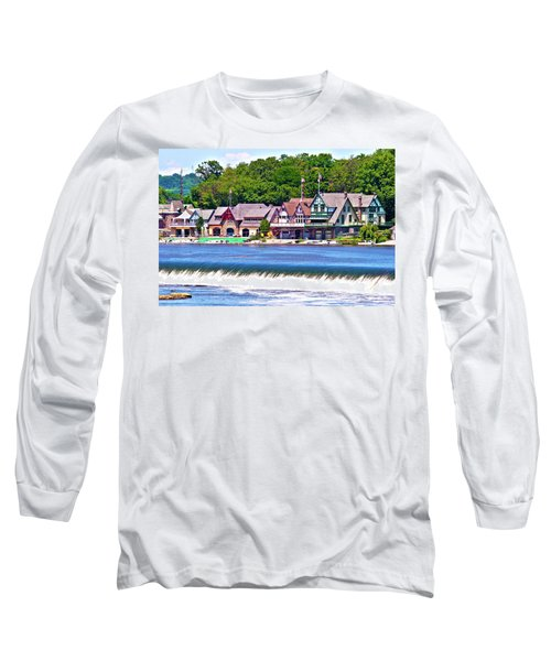 Boathouse Row - Hdr Long Sleeve T-Shirt by Lou Ford