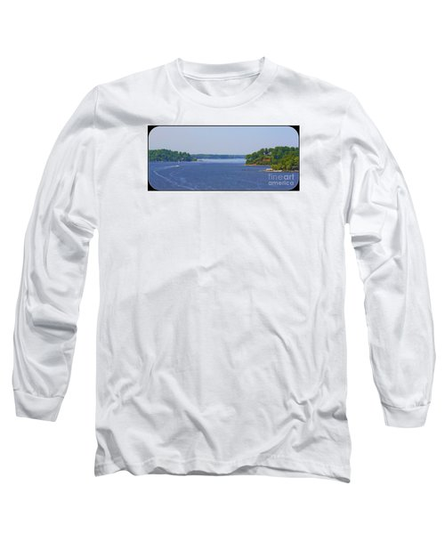 Boating On The Severn River Long Sleeve T-Shirt by Patti Whitten
