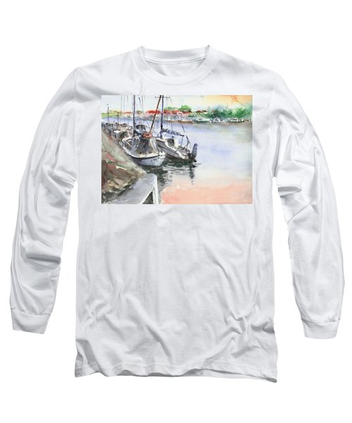 Boats Inshore Long Sleeve T-Shirt by Faruk Koksal