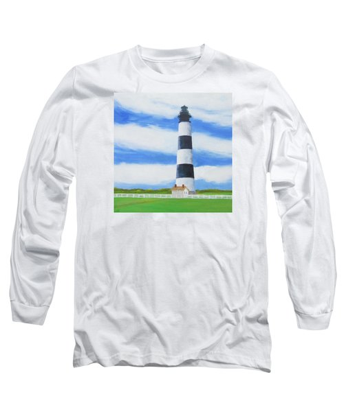 Bodie Island Lighthouse Long Sleeve T-Shirt by Anne Marie Brown