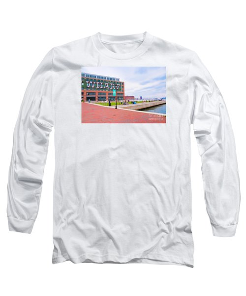 Bond Street Landing Baltimore Maryland Long Sleeve T-Shirt by Vizual Studio
