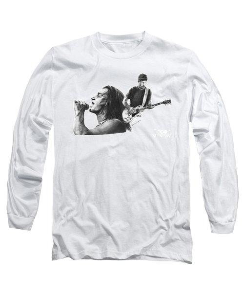 Bono And The Edge Long Sleeve T-Shirt by Marianne NANA Betts
