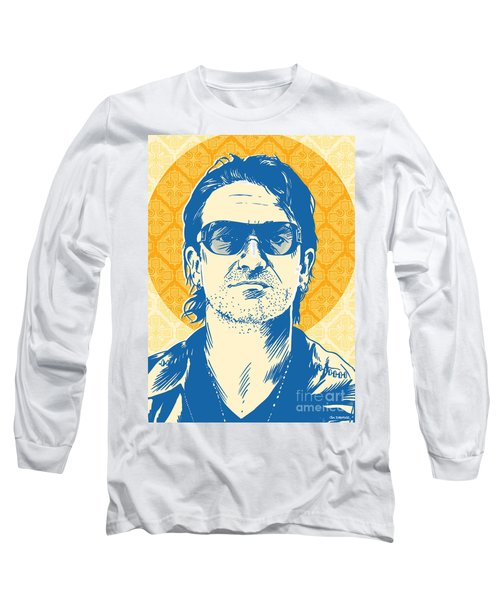 Bono Pop Art Long Sleeve T-Shirt by Jim Zahniser