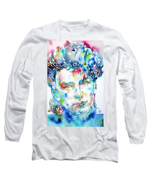 Bono Watercolor Portrait.1 Long Sleeve T-Shirt by Fabrizio Cassetta