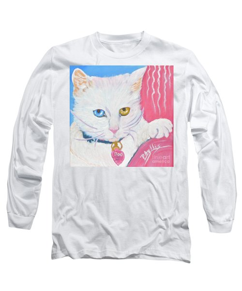 Long Sleeve T-Shirt featuring the painting Boo Kitty by Phyllis Kaltenbach
