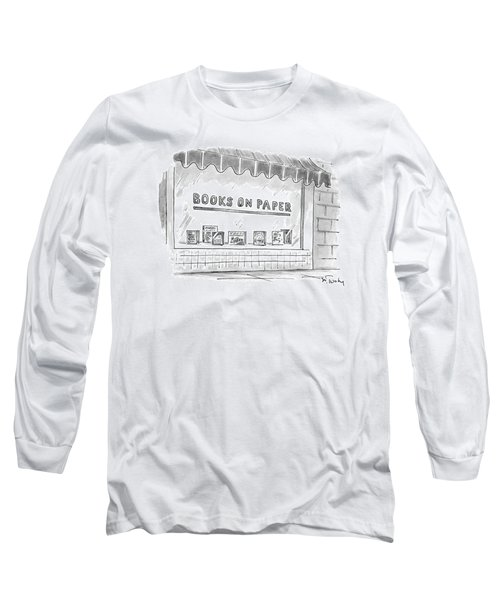 'books On Paper' Long Sleeve T-Shirt