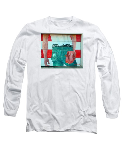 Born In The Usa Urban Garage Door Mural Long Sleeve T-Shirt by Chris Berry