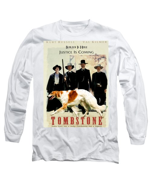 Borzoi Art - Tombstone Movie Poster Long Sleeve T-Shirt