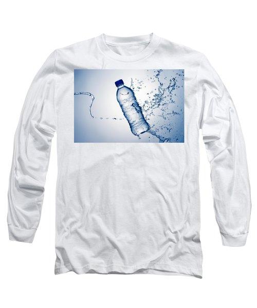 Bottle Water And Splash Long Sleeve T-Shirt