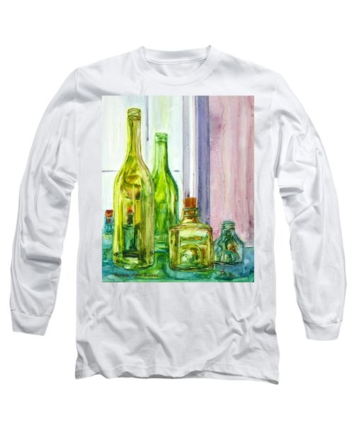 Bottles - Shades Of Green Long Sleeve T-Shirt