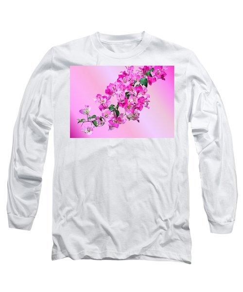 Long Sleeve T-Shirt featuring the photograph Bougainvillea by Kristin Elmquist
