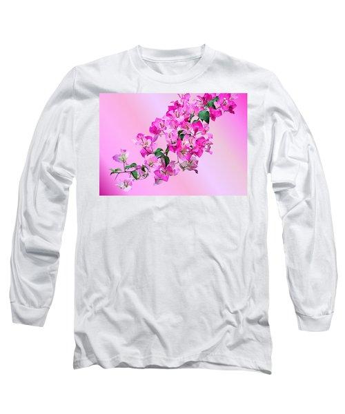 Bougainvillea Long Sleeve T-Shirt by Kristin Elmquist