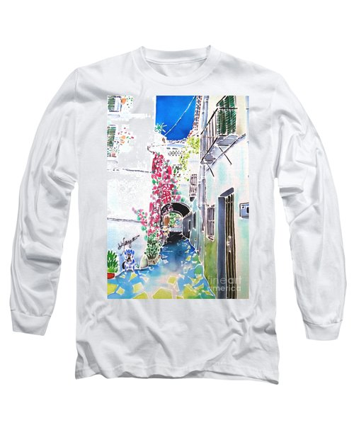 Bougainvillea Path  Long Sleeve T-Shirt
