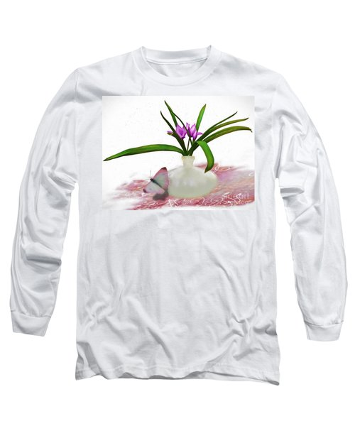 Bouque In Digital Watercolor Long Sleeve T-Shirt