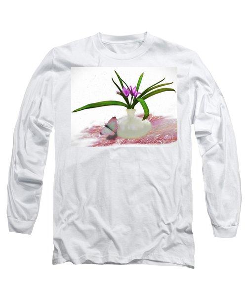 Bouque In Digital Watercolor Long Sleeve T-Shirt