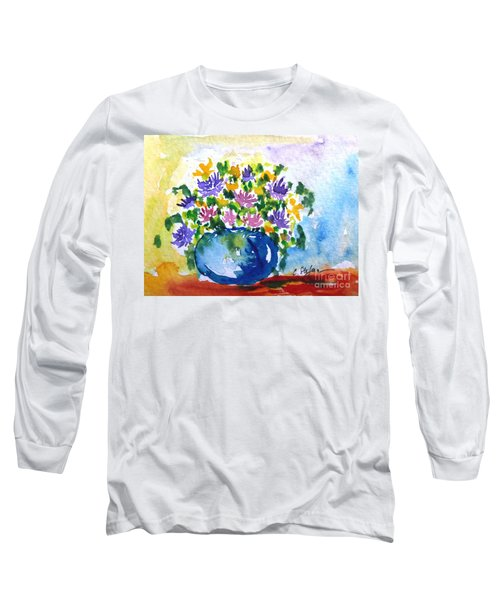 Bouquet Of Flowers In A Vase Long Sleeve T-Shirt