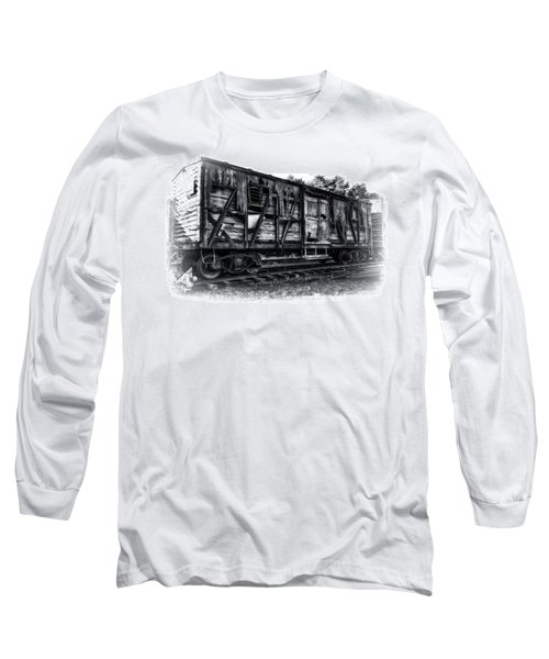 Box Car In High Key Hdr Long Sleeve T-Shirt by Michael White