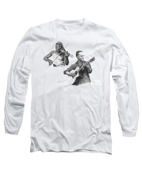 Long Sleeve T-Shirt featuring the drawing Boyd And Dave by Marianne NANA Betts