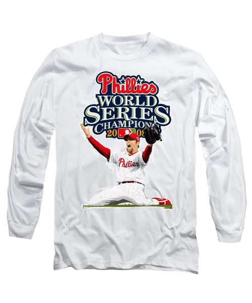 Brad Lidge Ws Champs Logo Long Sleeve T-Shirt