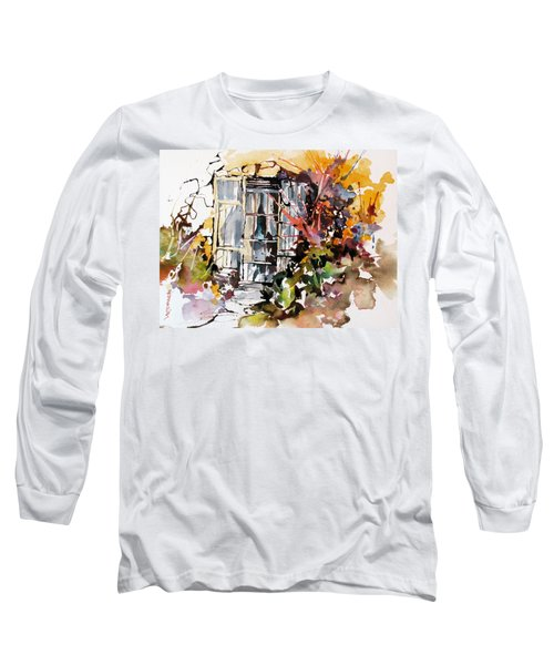Long Sleeve T-Shirt featuring the painting Brambles by Rae Andrews
