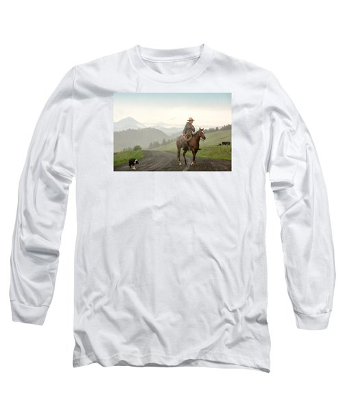 Braving The Rain Long Sleeve T-Shirt