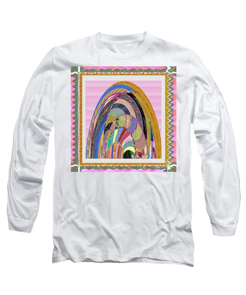 Bride In Layers Of Veils Accidental Discovery From Graphic Abstracts Made From Crystal Healing Stone Long Sleeve T-Shirt