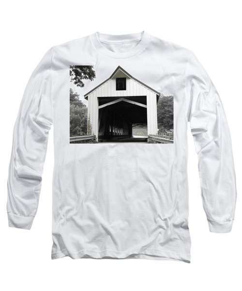 Bridge Over Troubled Waters Long Sleeve T-Shirt by Michael Krek