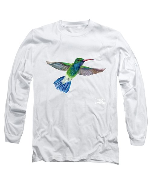 Broadbilled Fan Tail Hummingbird Long Sleeve T-Shirt