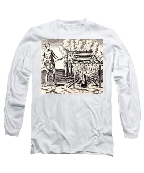 Broylinge Their Fish Over The Flame Long Sleeve T-Shirt by Peter Gumaer Ogden