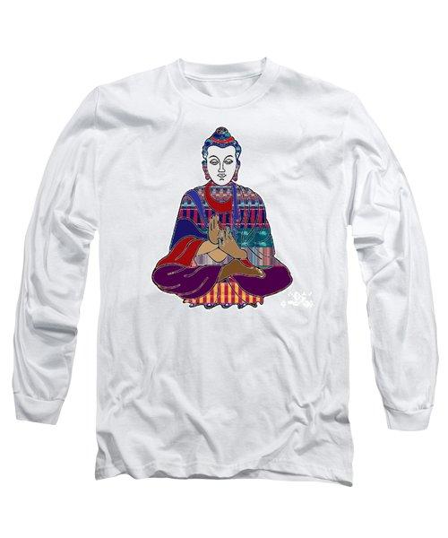 Buddha In Meditation Buddhism Master Teacher Spiritual Guru By Navinjoshi At Fineartamerica.com Long Sleeve T-Shirt