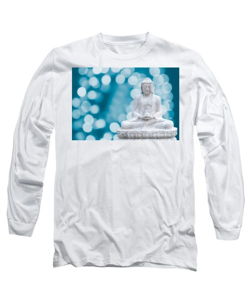 Buddha Enlightenment Blue Long Sleeve T-Shirt