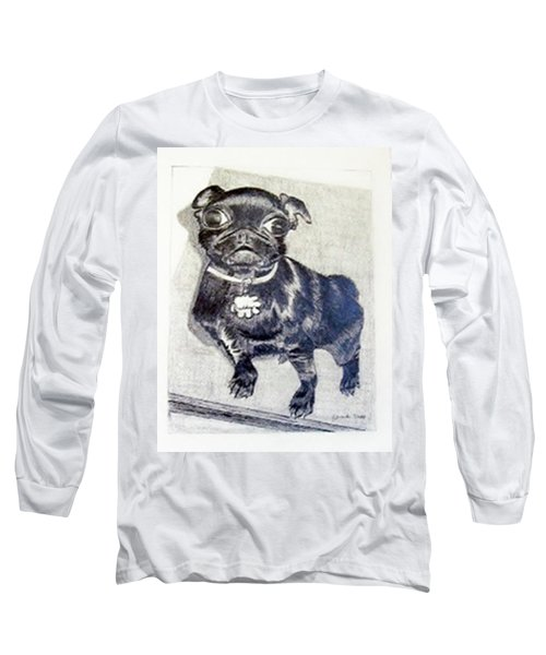 Long Sleeve T-Shirt featuring the drawing Buddy by Jamie Frier
