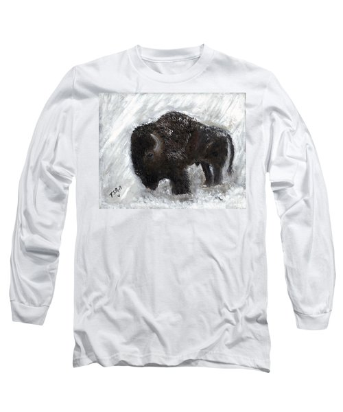Buffalo In The Snow Long Sleeve T-Shirt