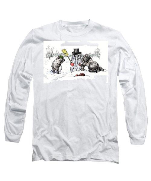 Building A Snow Elephant Long Sleeve T-Shirt
