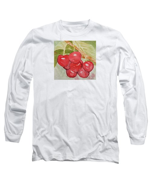 Bunch Of Red Cherries Long Sleeve T-Shirt