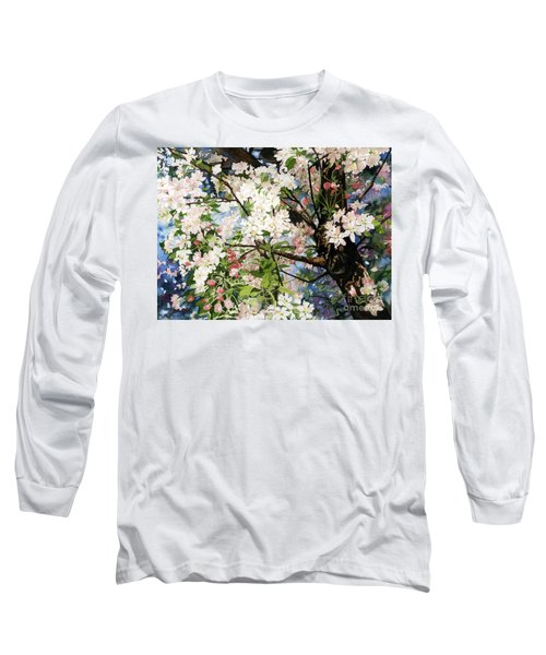 Burst Of Spring Long Sleeve T-Shirt by Barbara Jewell