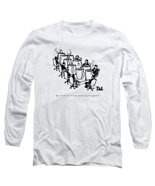 Businessmen Sit Around Conference Table Long Sleeve T-Shirt