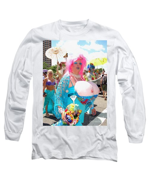 Long Sleeve T-Shirt featuring the photograph Busty Mermaid by Ed Weidman