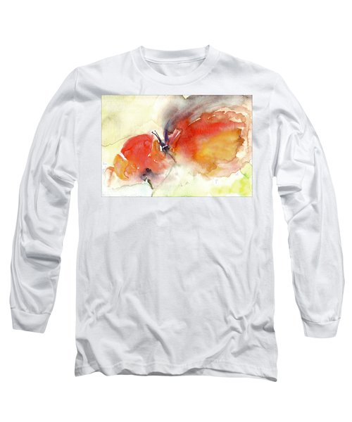 Long Sleeve T-Shirt featuring the painting Butterfly by Faruk Koksal