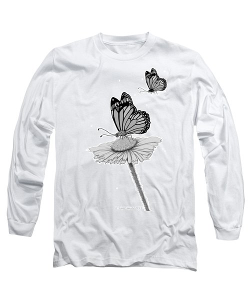 Long Sleeve T-Shirt featuring the digital art Butterfly Friends by Carol Jacobs