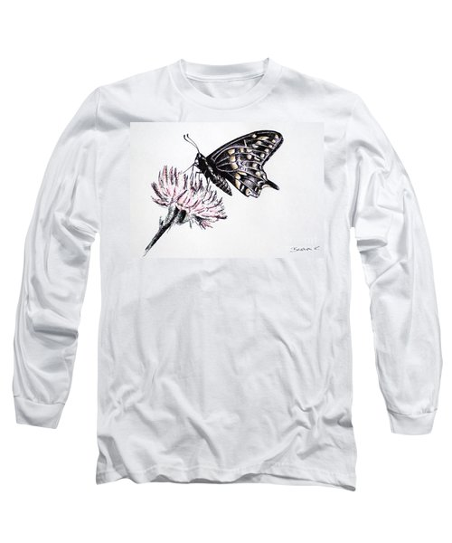 Butterfly Long Sleeve T-Shirt by Katharina Filus