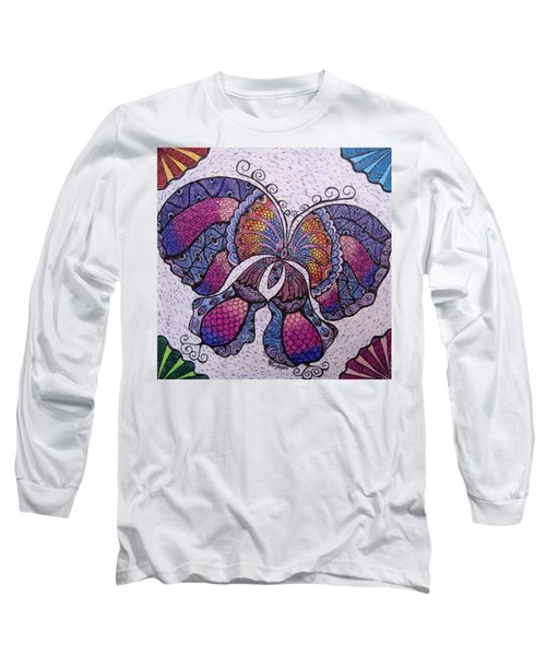 Butterfly Tangle Long Sleeve T-Shirt by Megan Walsh