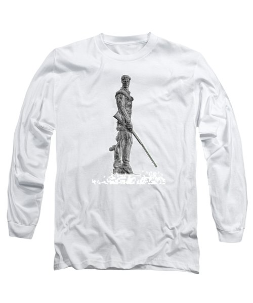 Bw Of Mountaineer Statue Long Sleeve T-Shirt